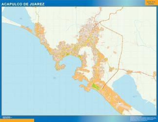 Biggest Acapulco de Juarez map Mexico