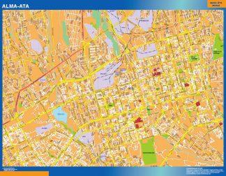 Biggest Alma Ata laminated map