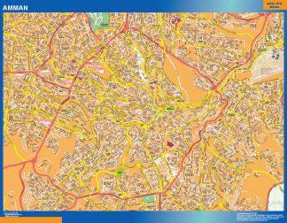 Biggest Amman laminated map
