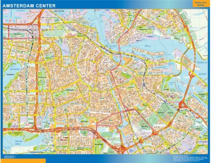 Biggest Amsterdam downtown map