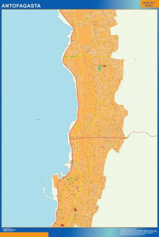 Biggest Antofagasta map from Chile