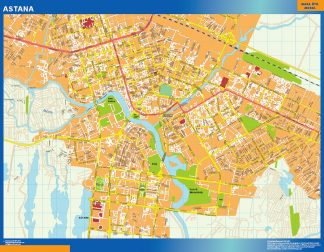 Biggest Astana laminated map
