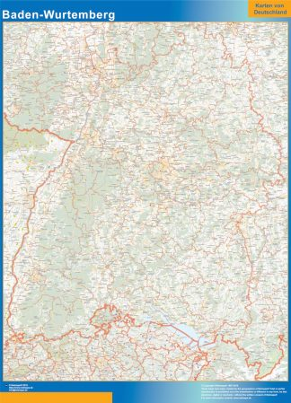 Biggest Baden-Wurtemberg map