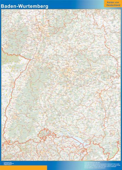 Biggest Baden-Wurtemberg map