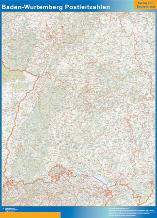 Biggest Baden-Wurtemberg zip codes map