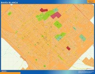 Biggest Bahia Blanca map in Argentina
