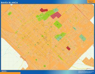 Biggest Bahia Blanca map in Argentina
