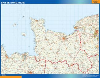 Biggest Baisse Normandie laminated map