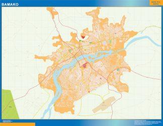 Biggest Bamako wall map