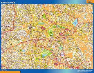 Biggest Bangalore laminated map