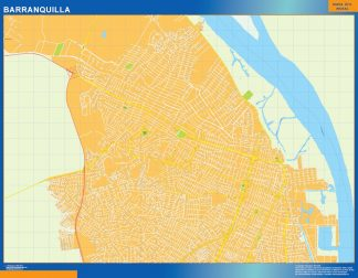 Biggest Barranquilla map in Colombia