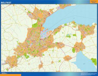 Biggest Belfast laminated map