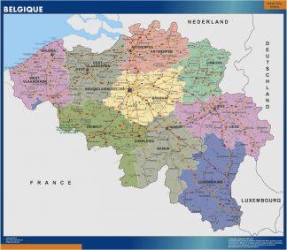 Biggest Belgium map