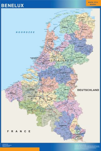 Biggest Benelux map