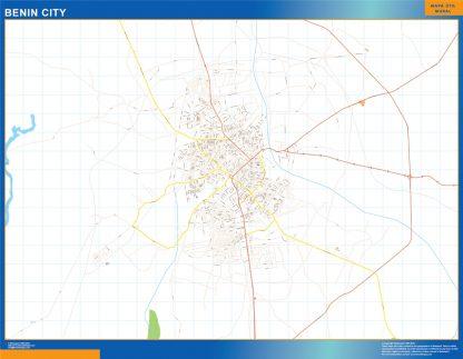 Biggest Benin City map Nigeria