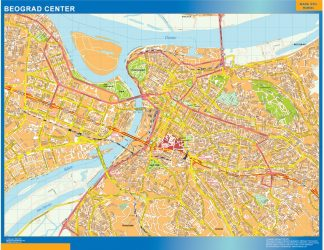 Biggest Beograd downtown map