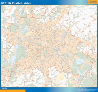 Biggest Berlin zip codes map