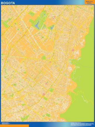 Biggest Bogota Centro map in Colombia