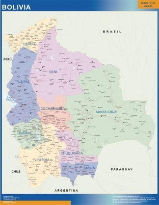 Biggest Bolivia map