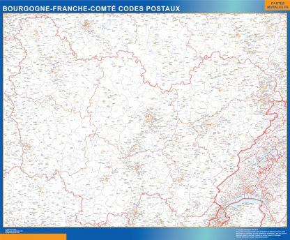 Biggest Bourgogne Franche Comte zip codes