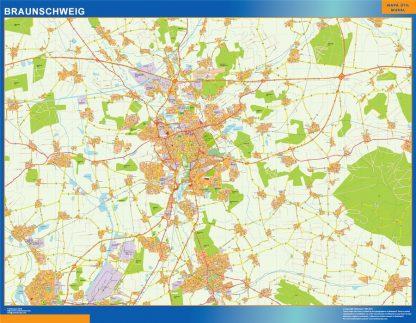 Biggest Braunschweig map in Germany