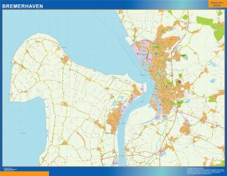 Biggest Bremerhaven map in Germany