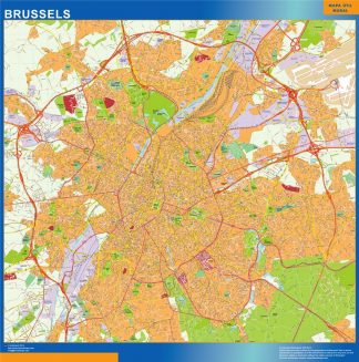 Biggest Brussels map in Belgium