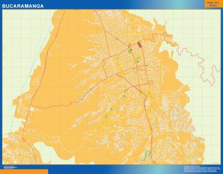 Biggest Bucaramanga map in Colombia