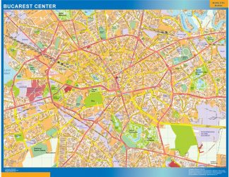 Biggest Bucarest downtown map