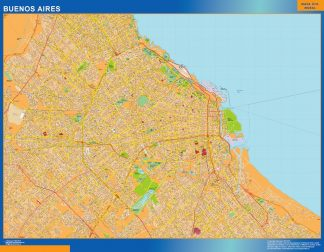 Biggest Buenos Aires map in Argentina