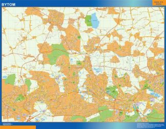 Biggest Bytom map Poland
