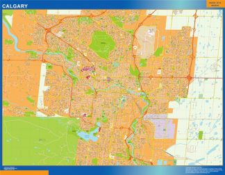 Biggest Calgary wall map