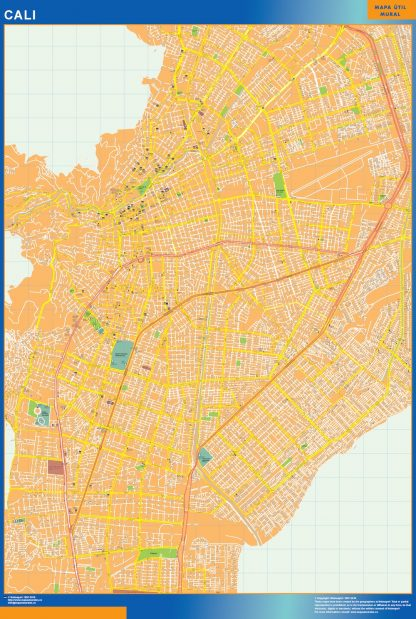 Biggest Cali map in Colombia
