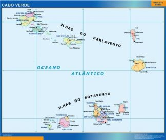 Biggest Cape Verde map