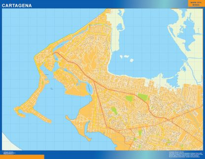 Biggest Cartagena map in Colombia
