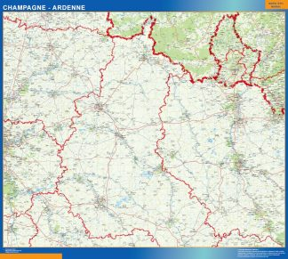 Biggest Champagne Ardenne laminated map