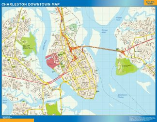 Biggest Charleston downtown map