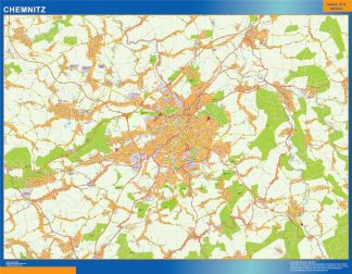Biggest Chemnitz map in Germany