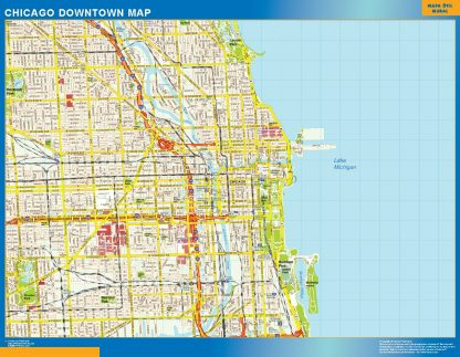 Biggest Chicago downtown map
