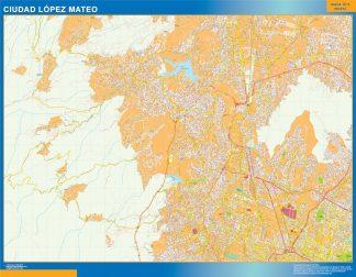Biggest Ciudad Lopez Mateo map Mexico