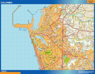 Biggest Colombo laminated map
