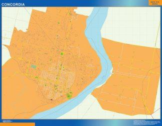 Biggest Concordia map in Argentina