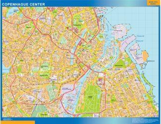 Biggest Copenhague downtown map