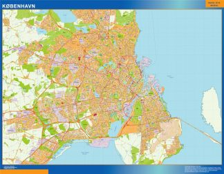 Biggest Copenhague map Denmark