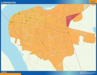 Biggest Corrientes map in Argentina