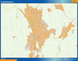 Biggest Cuernavaca map Mexico