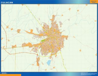 Biggest Culiacan map Mexico
