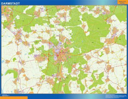 Biggest Darmstadt map in Germany
