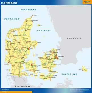 Biggest Denmark map