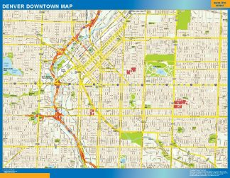 Biggest Denver downtown map